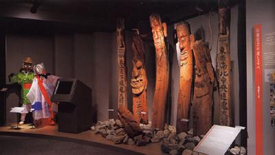 世界の生活文化 朝鮮半島コーナー展示風景