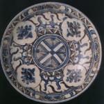 白釉藍彩草花文鉢 イラン 17世紀 口径21.8cm