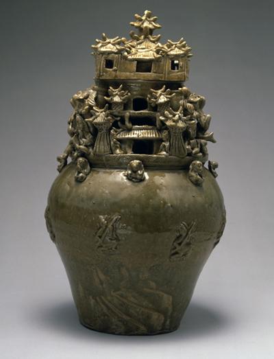 青磁神亭壺(中国・西晋)