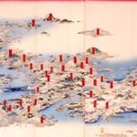 大日本名所一覧(部分) 喜斎立祥(二代広重)画 慶応2年(1866)頃 錦絵五枚続