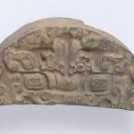 トウテツ紋半瓦当 中国・河北省 戦国時代 幅:17.3cm