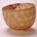 円形切子ガラス碗 イラン 6世紀頃 高8.8cm