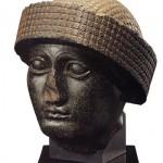 閃緑岩製グデア頭像 イラク(テロー) 前2125~前2110年 高25.1cm 石(閃緑岩)