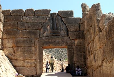 獅子の門 前1250年頃 ミケーネ