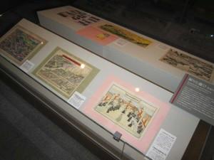 年祭刷物の展示の様子