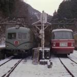 冬の極楽橋駅