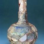 切子文ガラス長頸瓶 イラン 8-10世紀