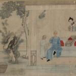 藩士萬(パン スーワン)家庭団らん図 縦72.6㎝ 横105.2㎝ 18世紀後半