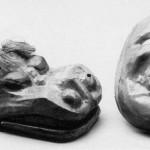 麒麟獅子と猩々面(昭和初期~30年代)