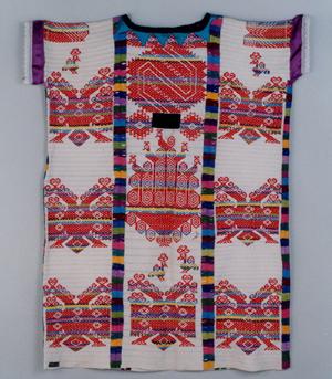 """女性用上衣""""ウィピール"""" オアハカ州 オフィツラン  民族集団名 チナンテコ 20世紀"""
