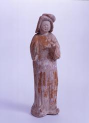 49.紅陶加彩女子