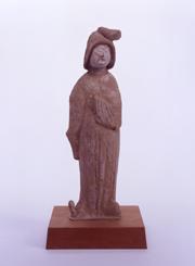 50.紅陶加彩女子