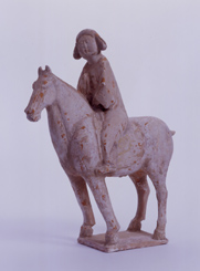 54.紅陶加彩騎馬女子