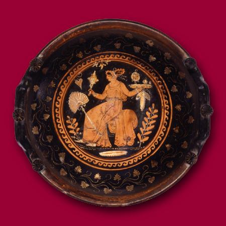 赤絵式パテラ イタリア 前340-330年頃 径35.2cm