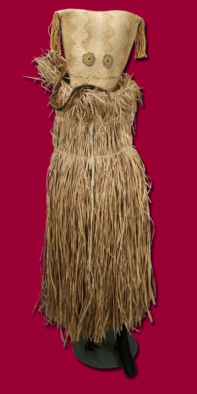 祭儀舞踏用カツラザルの面 民族名:カヤポ 20世紀後半 高149.0㎝