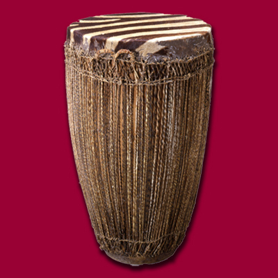 両面鼓 ルワンダ 高69.3cm