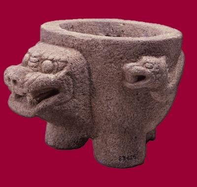 薬水の玄武形石鉢 20世紀前半 全長47.6cm
