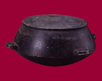 石製四耳釜 朝鮮王朝時代後期 最大経35.2cm