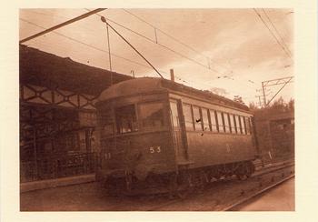 51形53号電車(信貴生駒電鉄 信貴山下駅 昭和14年)