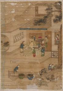 「藩士萬 家庭団欒図」 縦124.0㎝ 横86.5㎝
