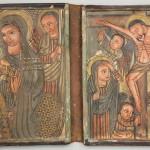 二連イコン「聖母子と十字架のキリスト」