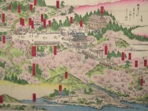 吉野山勝景絵図 平井佐市郎版 明治10年(1877)版 木版色刷