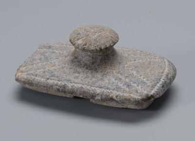 石製宝石箱の蓋 鉄器時代(前1300-300年)