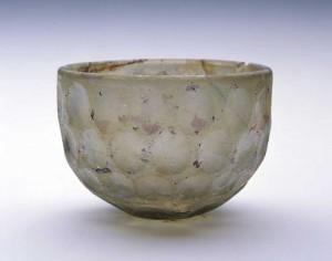 円形切子碗 イラン 6世紀