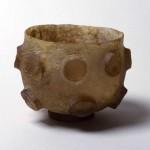 浮出円形切子碗 イラン 6世紀