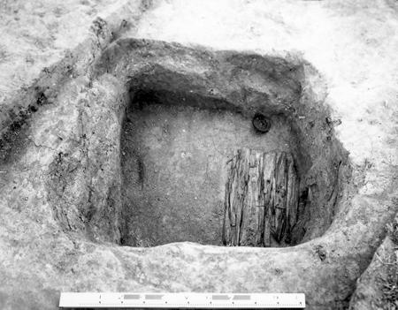 杣之内火葬墓の海獣葡萄鏡と木櫃