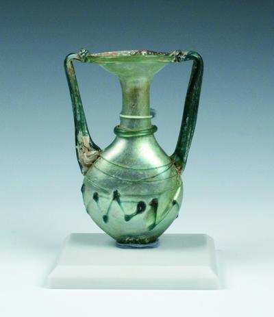 双把手付扁瓶(そうとってつきへんびん) シリア 4-5世紀  高12.0cm